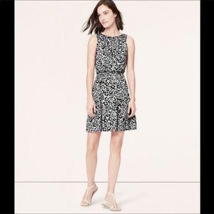Loft Floral Sleeveless tie waist dress OOP